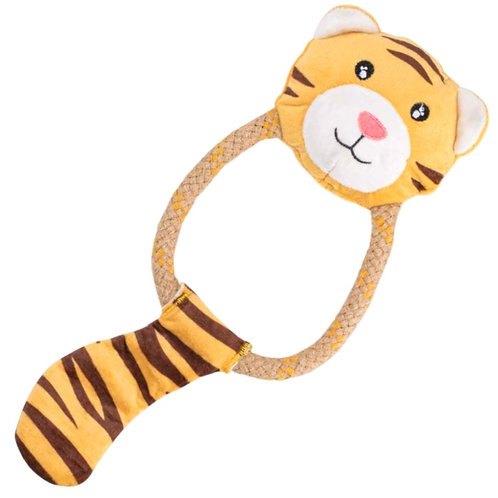 Beco pets Tilly the tiger dog toy