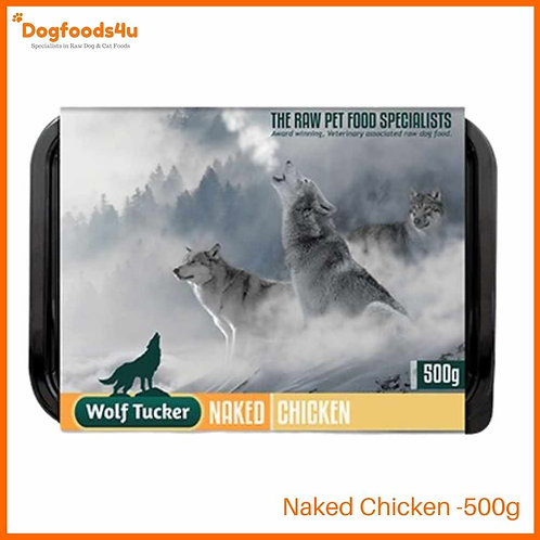 Wolf Tucker Naked Chicken 500g retail packaging