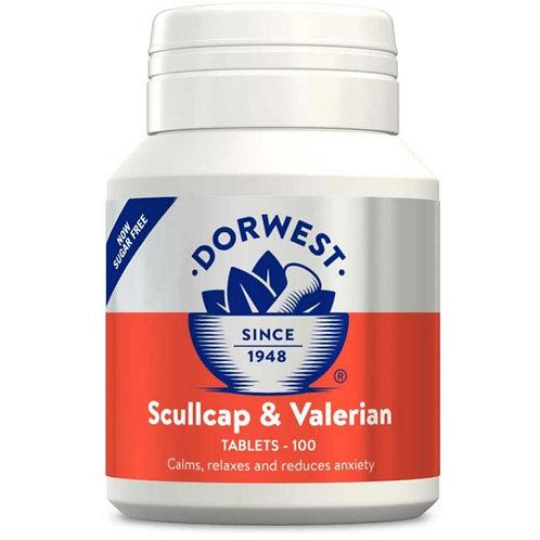 Dorwest Scullcap and valerian tablets - 100 tablets