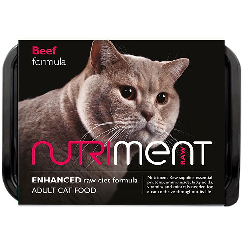 Nutriment Raw beef formula for cats 500g