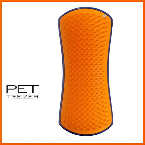 Petteezer Detangling & Dog Grooming Brush-Navy and Orange