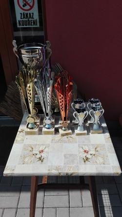Trofeje pro výherce SČ