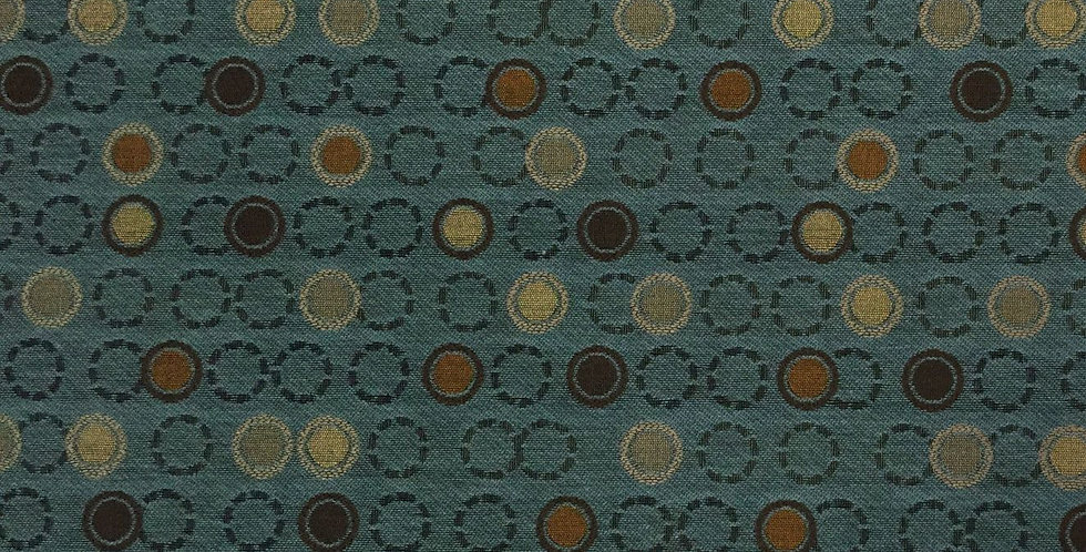 Dark Teal and Brown Dot Pattern