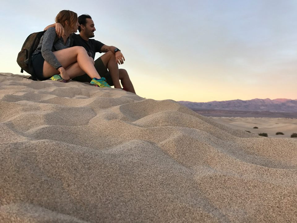 Death Valley's Sand Dunes at Sunset