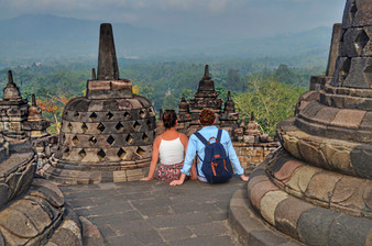 Borobudur Temple in Java, Indonesia  | Romantic Activity | Romantic Things To Do