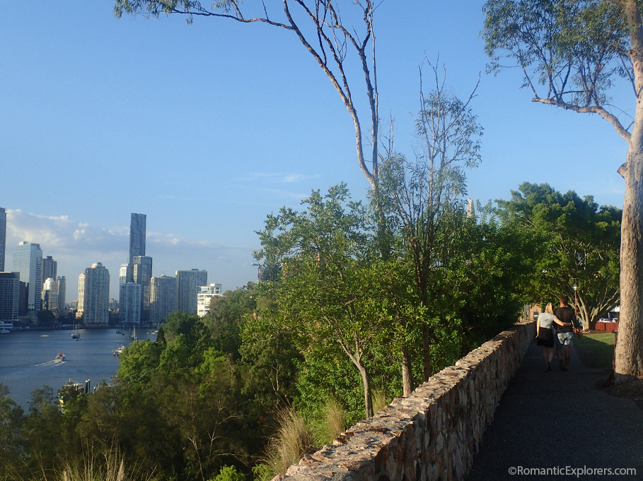 Exploring River Terrace at the top of Kangaroo Point Cliffs in Brisbane is a scenic treat!