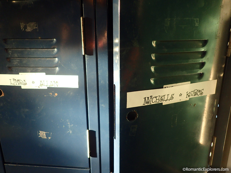 The lockers at Riverlife had our names on it which was a cute surprise!