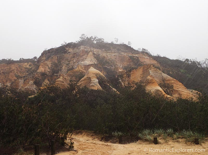 The Pinnacles Coloured Sands of Fraser Island