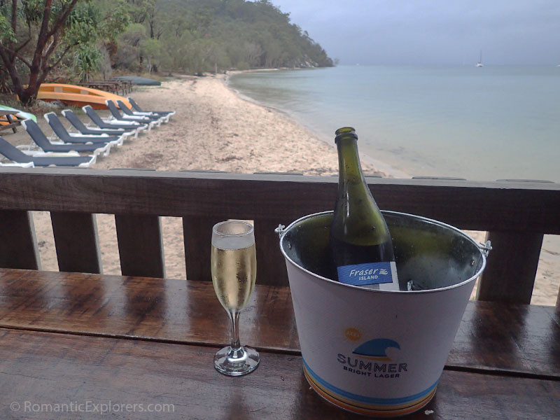 Relaxing at the jetty bar of King Fisher Bay, Fraser Island