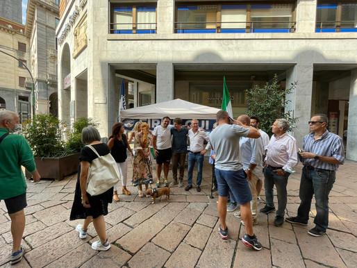 Gazebo in Via Marcobi con Carlo Fidanza