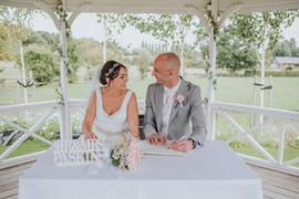 Outdoor wedding ceremony at The Beaverwo