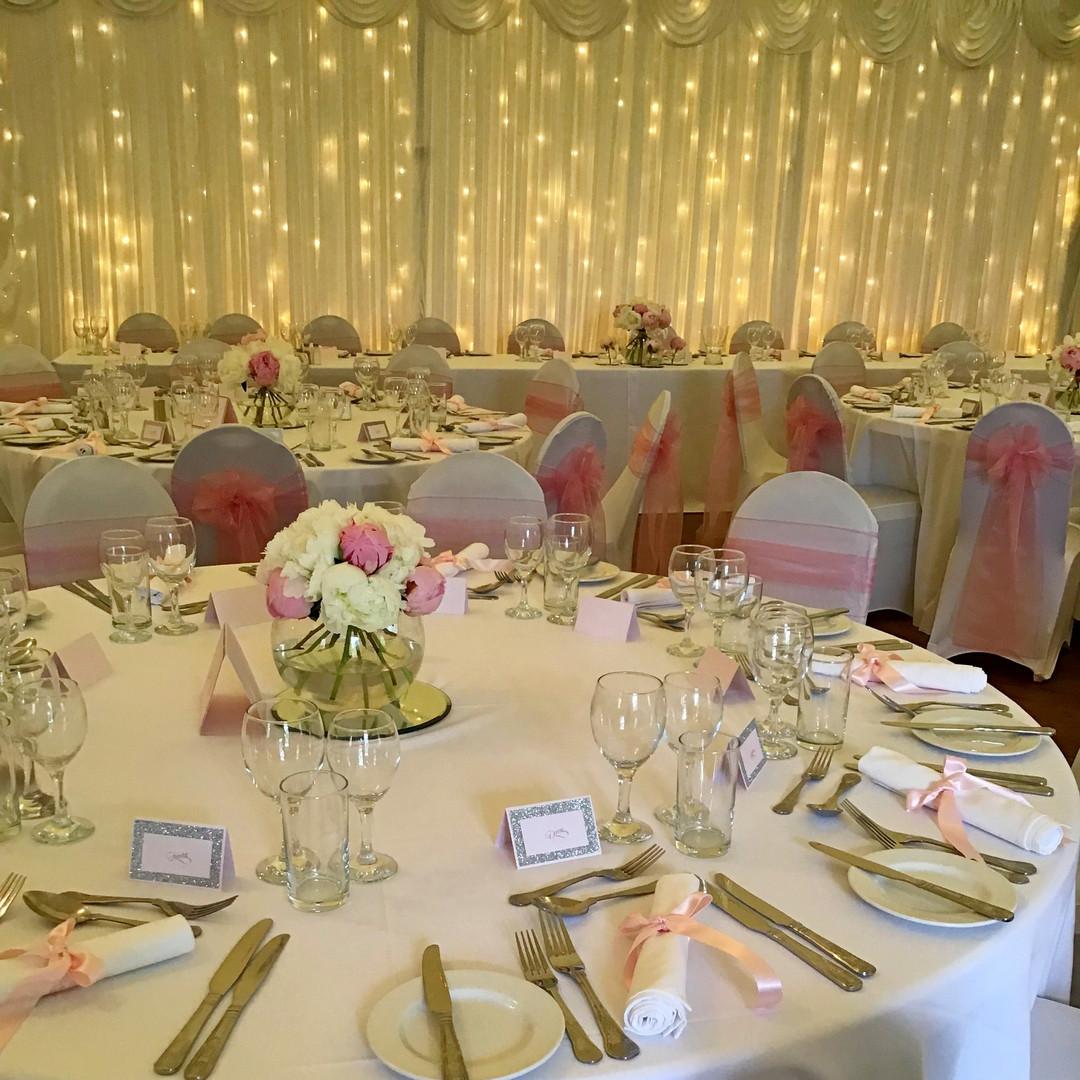 A pretty pink wedding
