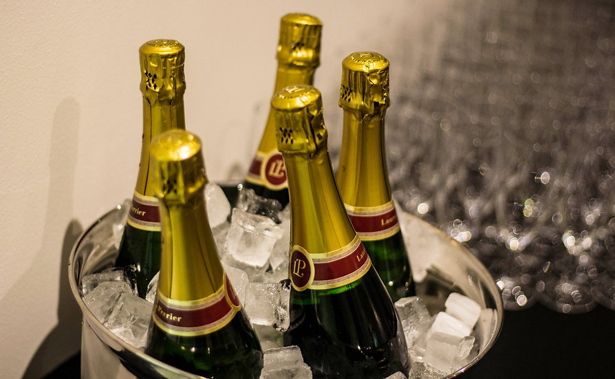 Champagne drinks reception at The Beaverwood