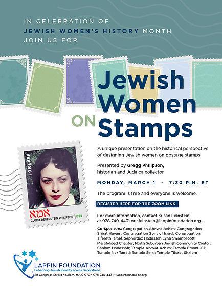 TTS-Lappin- Jewish Women on Stamps 3-1-2