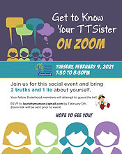 Sisterhood Program 2-9-21 GEt to know Yo