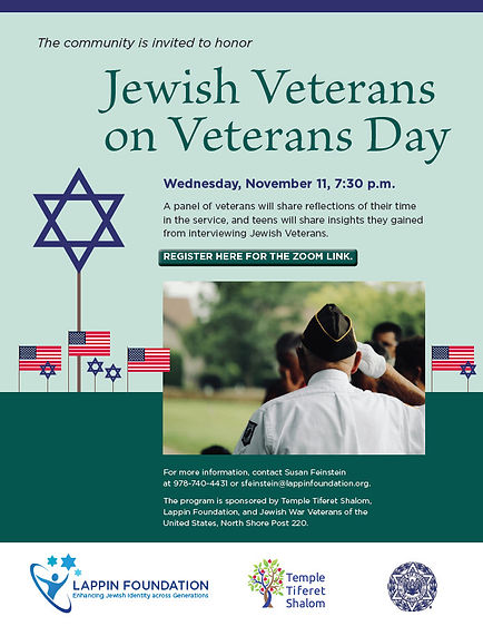 Jewish Veterans on Veterans Day 11-11-20