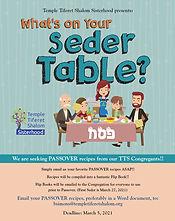 sisterhood Whats on your Seder Table 202