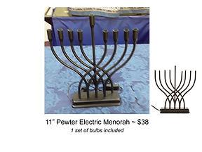 Pewter Electric Menorah (needs bulbs_).j