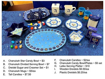 Hannukah Serving, Etc. -look at pricing