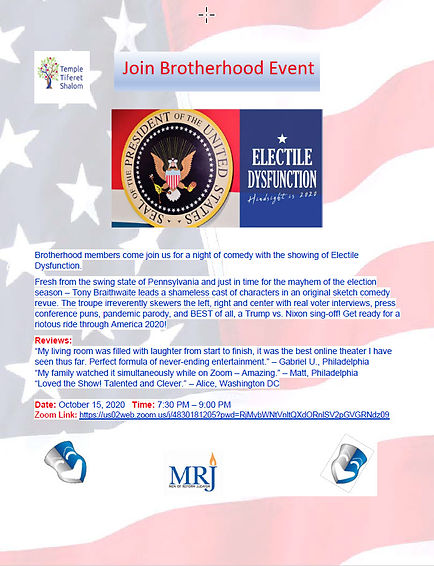 Brotherhood Event 10-15-20 Electile Dysf