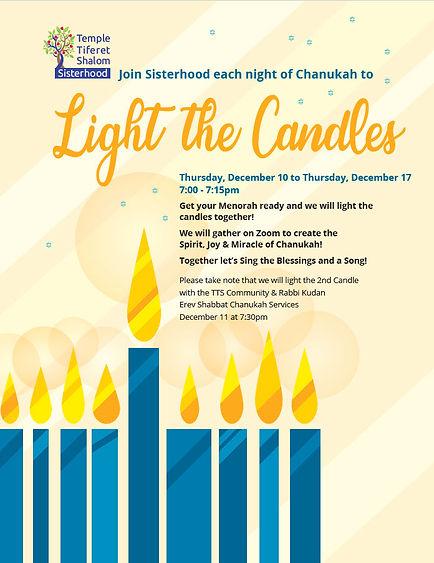 Sisterhood Chanukah Candle Lighting 5781