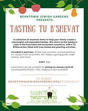 Beantown Jewish Garden Tasting Tu B'shev