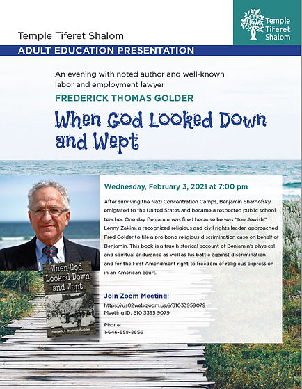 Ad Ed 2-3-21- When God look down and wep