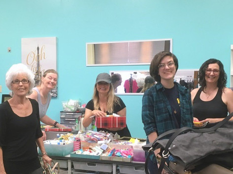 Volunteers in the Boutique