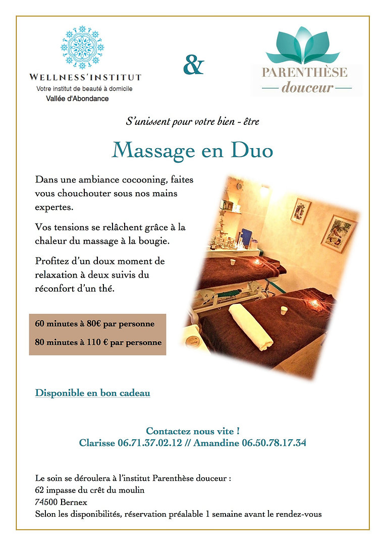 offre massage duo