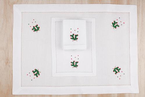 Chaloreros bordados a mano en lino y algodón