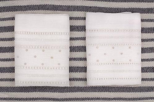 Blancos para baño en algodón o lino