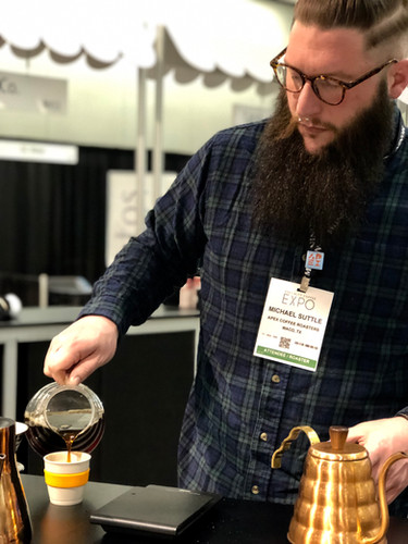 Serving Samples in Roaster Village SCA 2019
