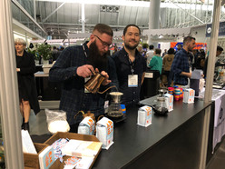 Brewing Coffee at our booth SCA 2019