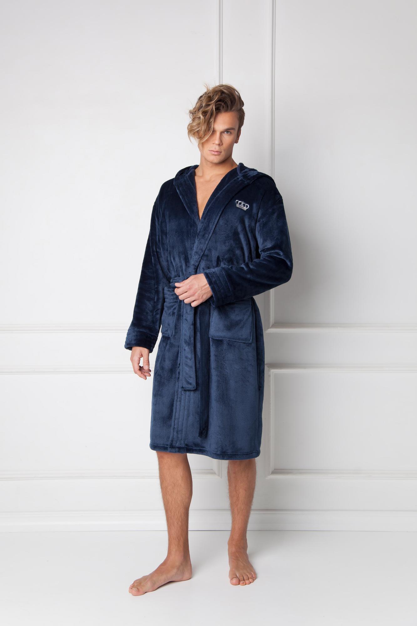 William bathrobe blue