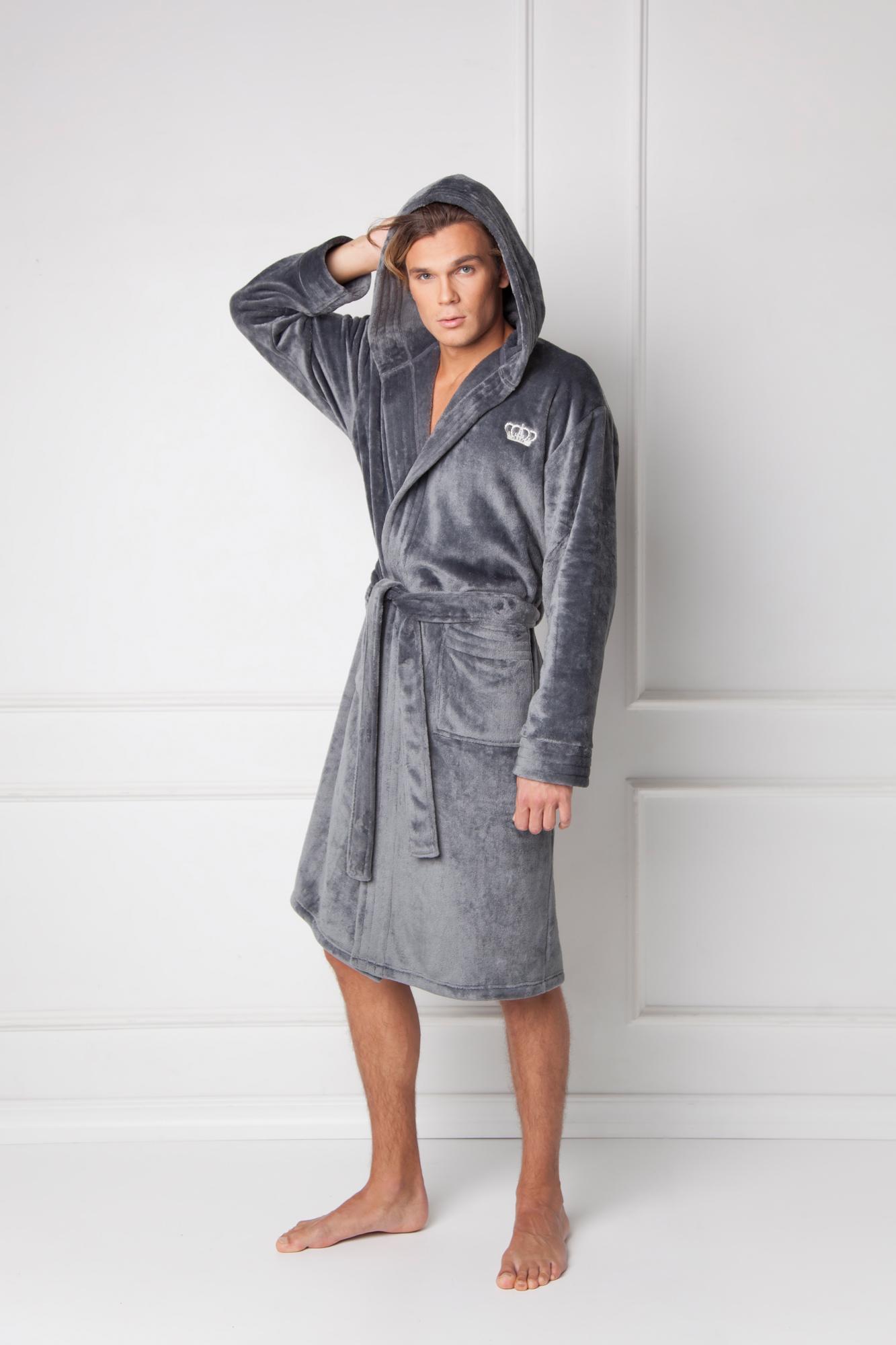 William bathrobe grey