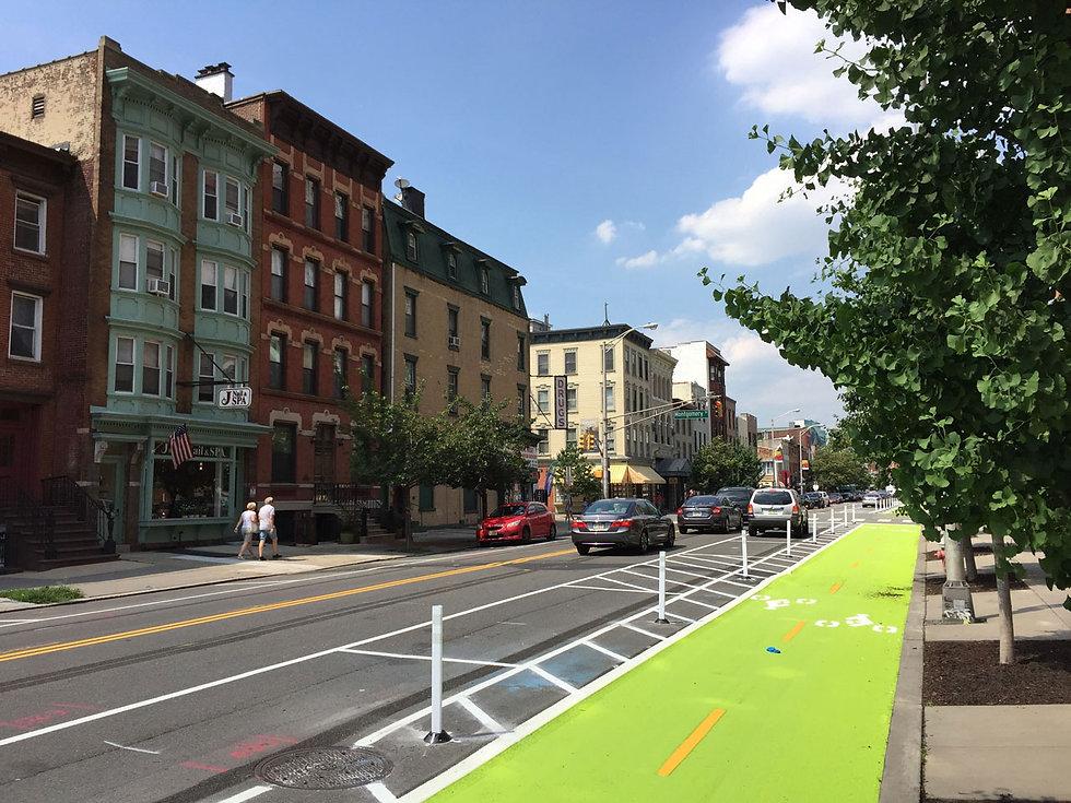 protected-bike-lane-Grove-Street-Jersey-