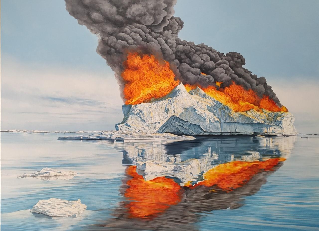 Burning Ice XI 130x97 óleo-lienzo 202