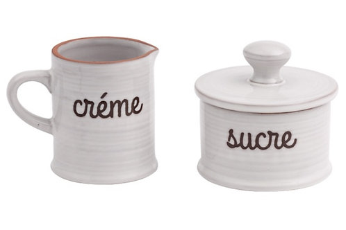 Creme and Sucre set