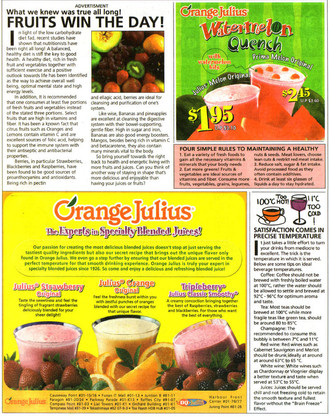 orange julius ... 2004 ... copy writing .