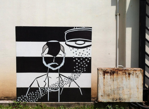 jay goes missing ... 2009 ... arcylic on canvas . 900x900cm .
