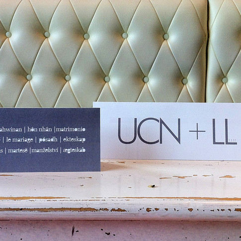 wedding invitation ... ucn + ll ... 2011 ... conceptualise .  design .  graphic .