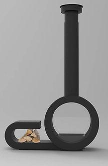 chimenea omin central con leñero
