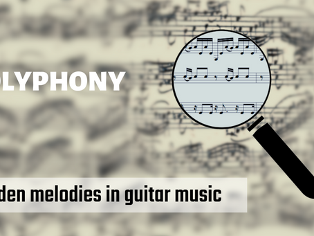Premium⭐ Guitar Music Notation - finding hidden melodies in polyphonic music
