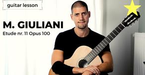 Aula de Guitarra (Premium): Estudo nº 11 opus 100 - Mauro Giuliani