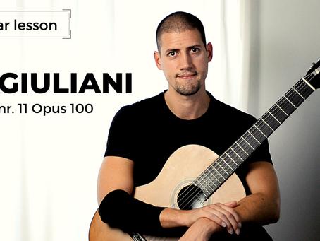 Aula de Guitarra: Estudo nr. 11 opus 100 - Mauro Giuliani