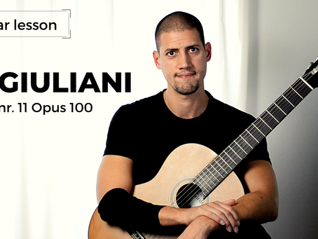 Guitar Lesson: Etude nr. 11 op. 100 - Mauro Giuliani