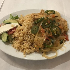 A delicious filling meal from Don Chucho!