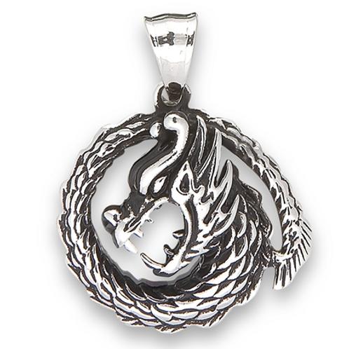 dragon pendant   stainless