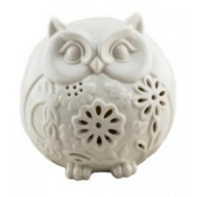 owl | incense + candle holder