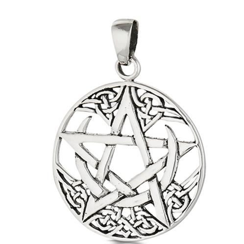 4 elements series | moon + pentacle pendant